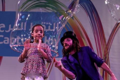 Bubble-APokaz Gigantycznych Baniek Mydlanychct-aus-Wien-2